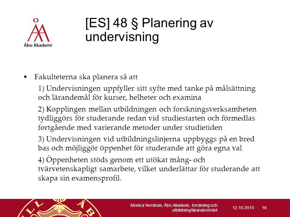 [ES] 48 § Planering av undervisning